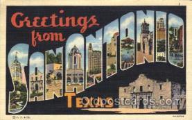 LLT100160 - Sanantonio, Texas, Usa Large Letter Town, Towns, Postcard Postcards