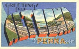 LLT100161 - Altoona, Penna, Usa Large Letter Town, Towns, Postcard Postcards