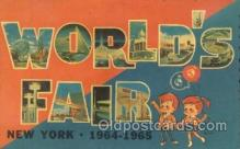 LLT100163 - World Fair, New York, Usa Large Letter Town, Towns, Postcard Postcards