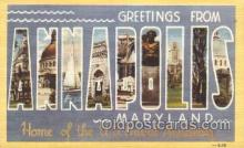 LLT100166 - Annapolis, Maryland, Usa Large Letter Town, Towns, Postcard Postcards