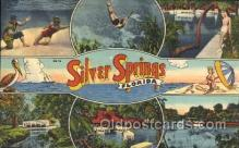 LLT100167 - Silver Springs, Florida, Usa Large Letter Town, Towns, Postcard Postcards