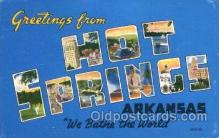 LLT100168 - Arkansas, USA Large Letter Town, Towns, Postcard Postcards