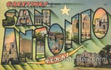 LLT100169 - San Antonio, Texas, Usa Large Letter Town, Towns, Postcard Postcards