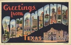 LLT100170 - Sanantonio, Texas, Usa Large Letter Town, Towns, Postcard Postcards