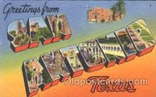 LLT100172 - San Antonio, Texas, Usa Large Letter Town, Towns, Postcard Postcards