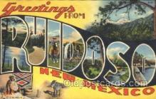 LLT100173 - Ruidodo, New Mexico, Usa Large Letter Town, Towns, Postcard Postcards
