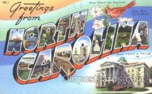 LLT100174 - North Carolina, Usa Large Letter Town, Towns, Postcard Postcards