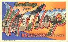 LLT100175 - Hastings, Nebraska, Usa Large Letter Town, Towns, Postcard Postcards