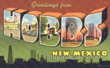 LLT100176 - Hobbs, New Mexico, Usa Large Letter Town, Towns, Postcard Postcards