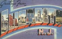 LLT100178 - Elizabeth, New Jersey, Usa Large Letter Town, Towns, Postcard Postcards