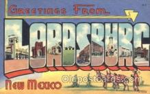 LLT100179 - Lordsburg, New Mexico, Usa Large Letter Town, Towns, Postcard Postcards