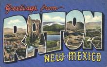 LLT100180 - Raton, New Mexico, Usa Large Letter Town, Towns, Postcard Postcards