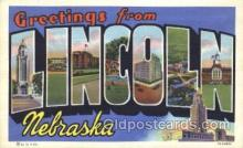 LLT100182 - Lincoln, Nebraska, Usa Large Letter Town, Towns, Postcard Postcards