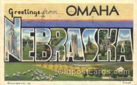 LLT100183 - Omaha, Nebraska, Usa Large Letter Town, Towns, Postcard Postcards