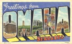 LLT100184 - Omaha, Nebraska, Usa Large Letter Town, Towns, Postcard Postcards