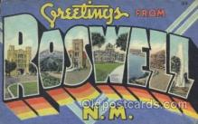 LLT100185 - Roswell, N.M., Usa Large Letter Town, Towns, Postcard Postcards