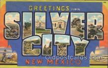 LLT100187 - Silver City, New Mexico, Usa Large Letter Town, Towns, Postcard Postcards