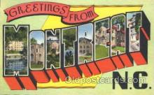 LLT100188 - Montreat, N.C. , USA Large Letter Town, Towns, Postcard Postcards