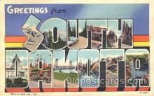 LLT100193 - South Dakota, Usa Large Letter Town, Towns, Postcard Postcards