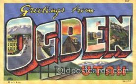 LLT100196 - Ogden, Utah, Usa Large Letter Town, Towns, Postcard Postcards