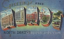 LLT100199 - Minot, North Dakota, Usa Large Letter Town, Towns, Postcard Postcards