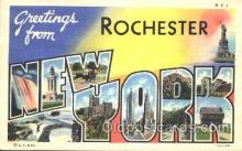 LLT100202 - Rochester, New York, Usa Large Letter Town, Towns, Postcard Postcards