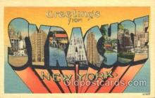 LLT100203 - Syracuse, New York, Usa Large Letter Town, Towns, Postcard Postcards
