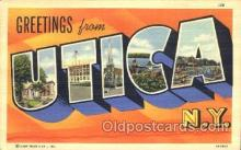 LLT100205 - Utica, New York, Usa Large Letter Town, Towns, Postcard Postcards