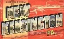 LLT100206 - New Kensington, Penneylvania, Usa Large Letter Town, Towns, Postcard Postcards