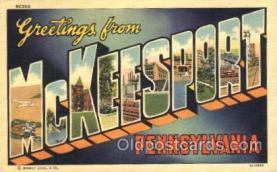 LLT100209 - McKeesport, Pennsylvania, Usa Large Letter Town, Towns, Postcard Postcards