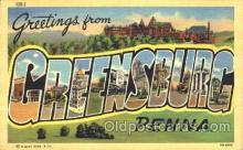 LLT100210 - Greensburg, Penna, Usa Large Letter Town, Towns, Postcard Postcards