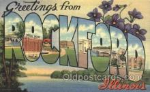 LLT100212 - Rockford, Illinois, USA Large Letter Town, Towns, Postcard Postcards