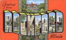 LLT100213 - Rockford, Illinois, USA Large Letter Town, Towns, Postcard Postcards