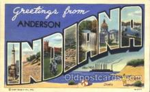 LLT100217 - Anderson, Indiana, USA Large Letter Town, Towns, Postcard Postcards