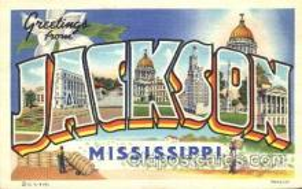 LLT100220 - Jackson, Mississippi, Usa Large Letter Town, Towns, Postcard Postcards