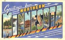 LLT100222 - Northern Minnesota, Usa Large Letter Town, Towns, Postcard Postcards