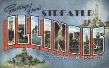 LLT100224 - Streater, Illinois, Usa Large Letter Town, Towns, Postcard Postcards