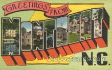 LLT100226 - Montreat, N.C., Usa Large Letter Town, Towns, Postcard Postcards