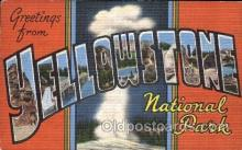 LLT100227 - Yellowstone, National Park, Usa Large Letter Town, Towns, Postcard Postcards