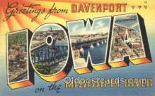 LLT100228 - Iowa, Mississippi River, Usa Large Letter Town, Towns, Postcard Postcards