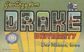 LLT100229 - Drake, Des Moines, Iowa, Usa Large Letter Town, Towns, Postcard Postcards