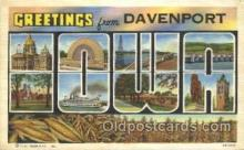 LLT100230 - Davenport, Iowa, Usa Large Letter Town, Towns, Postcard Postcards