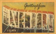 LLT100231 - Davenport, Iowa, Usa Large Letter Town, Towns, Postcard Postcards