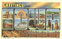 LLT100237 - Iowa, Usa Large Letter Town, Towns, Postcard Postcards