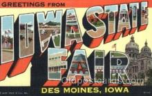 LLT100238 - Des Moines, Iowa, Usa Large Letter Town, Towns, Postcard Postcards