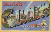 LLT100241 - Columbus, Ohio, Usa Large Letter Town, Towns, Postcard Postcards