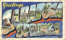 LLT100242 - Saratoga Springs, New York, Usa Large Letter Town, Towns, Postcard Postcards