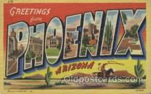 LLT100244 - Phoenix, Arizona, Usa Large Letter Town, Towns, Postcard Postcards