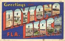 LLT100247 - Daytona Beach, Florida, Usa Large Letter Town, Towns, Postcard Postcards