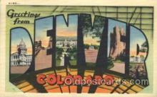 LLT100248 - Denver, Colorado, USA Large Letter Town, Towns, Postcard Postcards